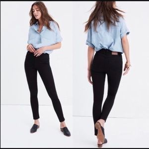 J Crew Black Lookout High Rise Skinny Jeans sz 29